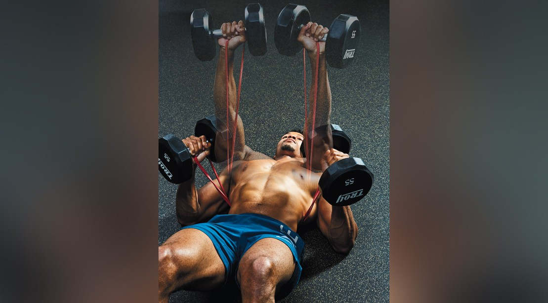 The Band and Dumbbell Upper-Body Finisher Workout
