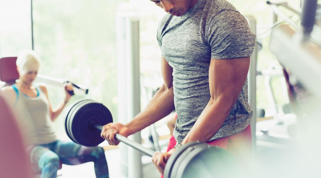 Eccentric Barbell Biceps Curl