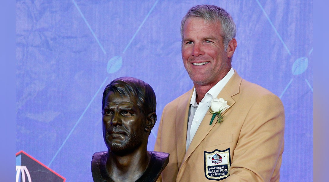 Brett Favre Hall of Fame Ceremony