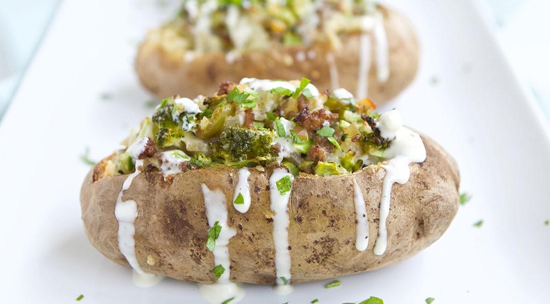 Buffalo Blue Twice Baked Potatoes