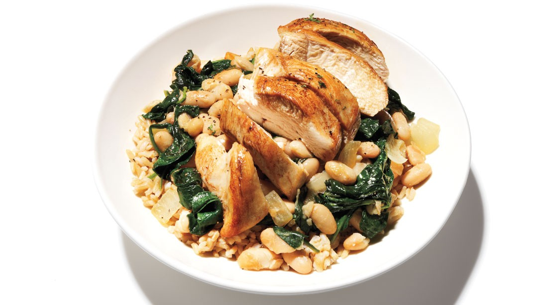 Chicken With Beans and Greens