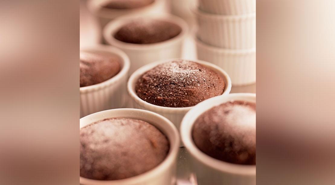 Mini Chocolate Protein Cakes