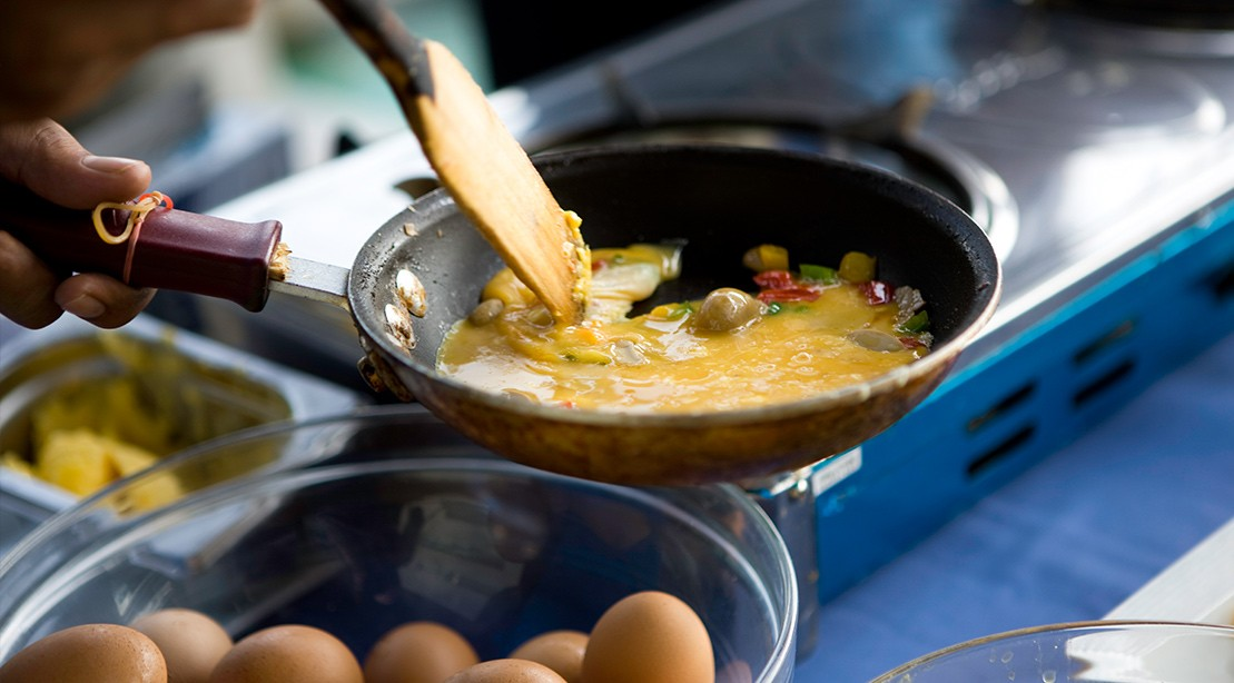 Cooking Eggs Breakfast