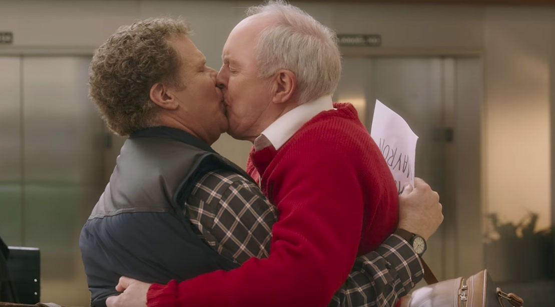 Will Ferrell and John Lithgow Kissing