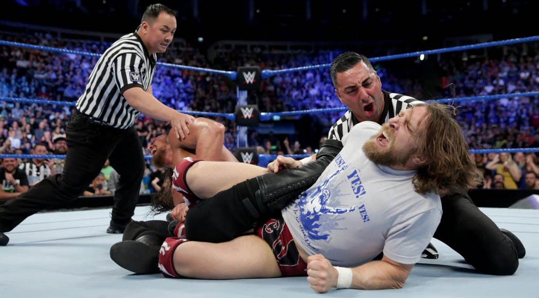 Daniel Bryan pins Big Cass on WWE SmackDown Live on May 15, 2018