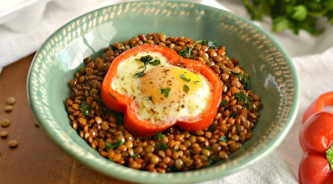 Egg Cup Lentil Bowl