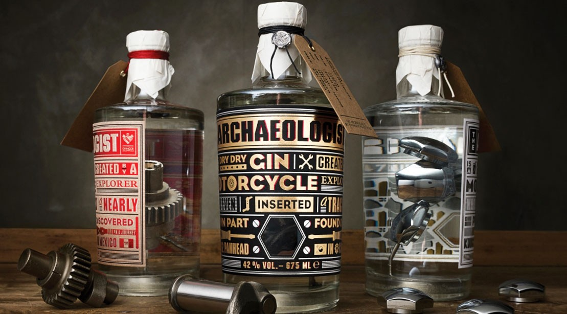 The Archaeologist Gin: Premium Gin Infused with Vintage Harley-Davidson Parts, Manliest Spirit We've Ever Seen