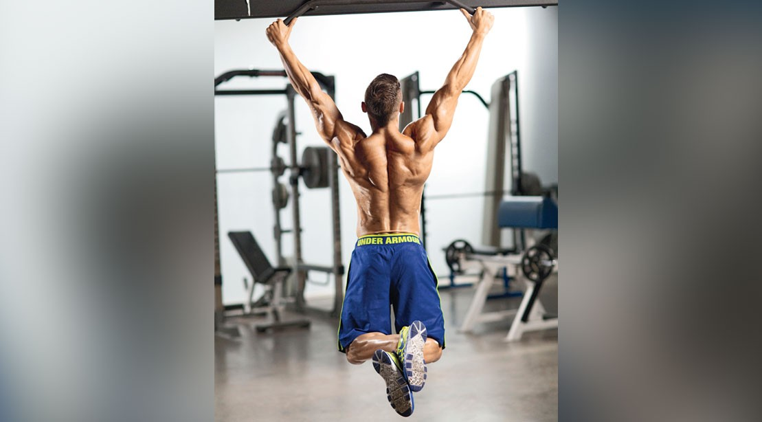 Man performing pullup