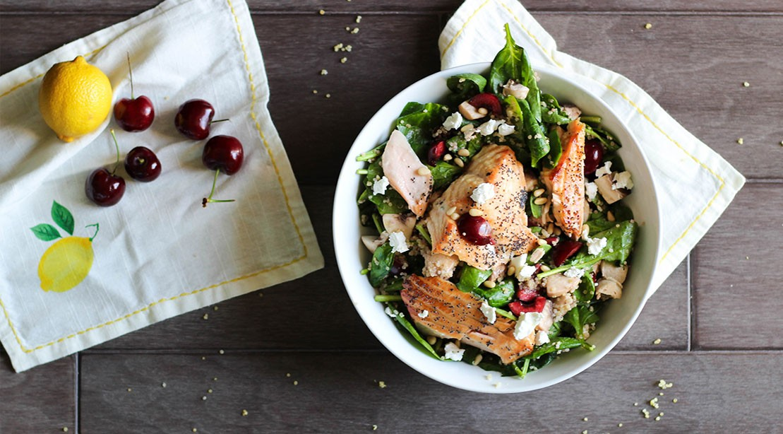Honey Glazed Salmon Poppy Seed Salad