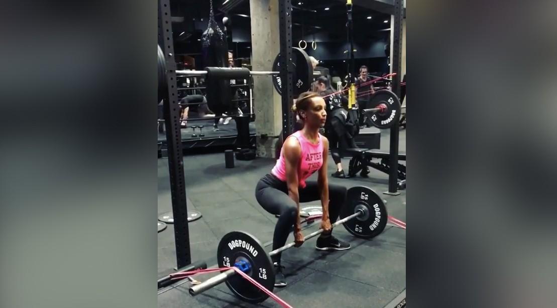 Jasmine Tookes Sumo Deadlift