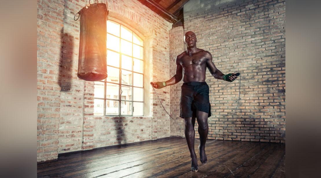 Man jumping rope