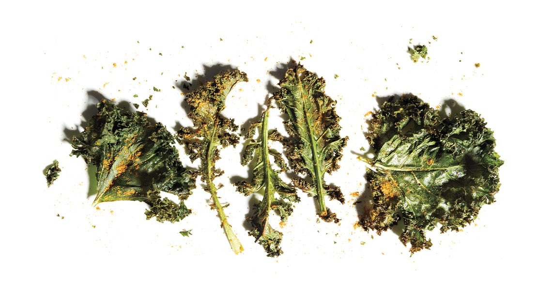 Curry Kale Chips
