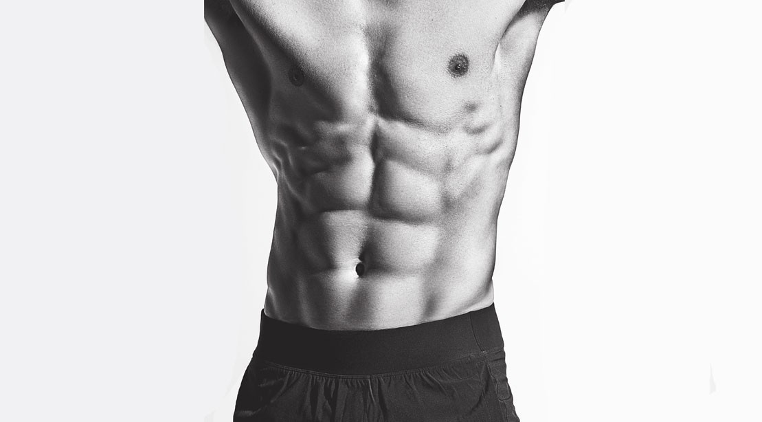 Man's muscular torso and abs