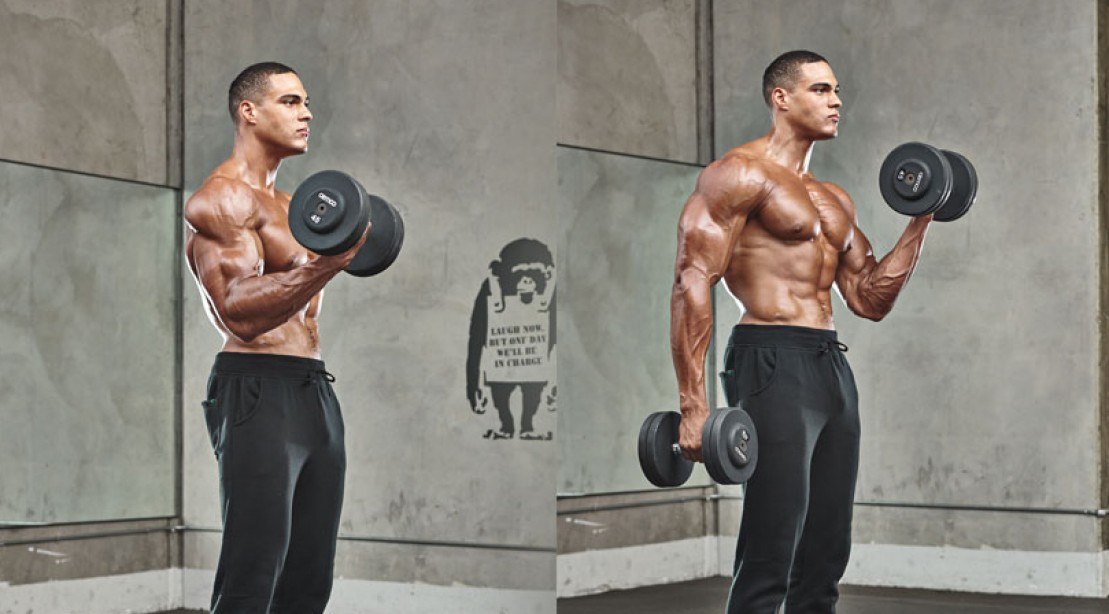 The 30-Minute Dumbbell Workout to Build Your Biceps ...