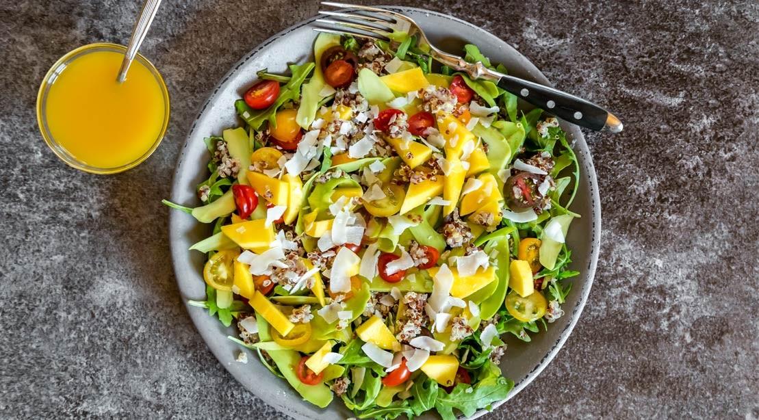Mango and Ahi Tuna Poke Salad