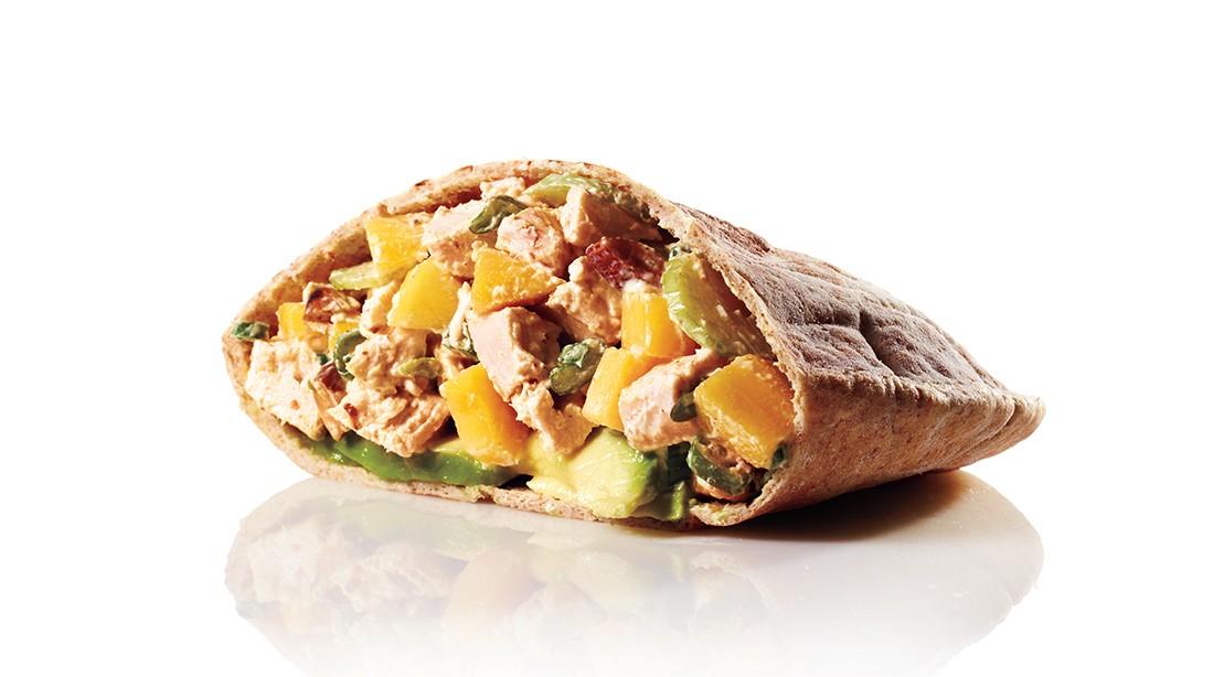 Mango Roast Chicken Pita
