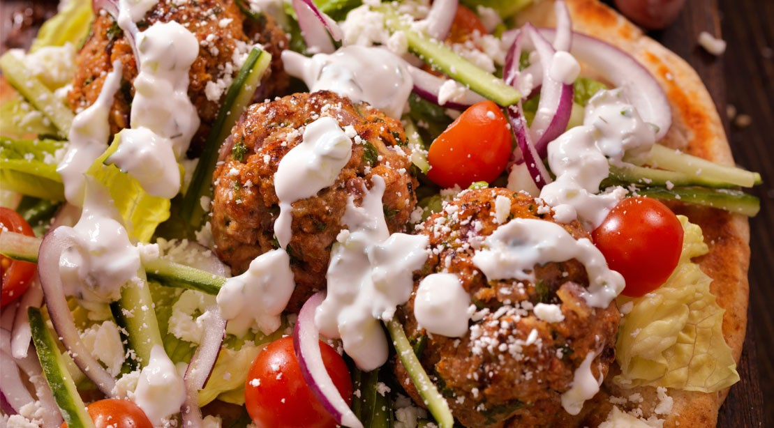 Meatballs With Greek Goddess Dressing