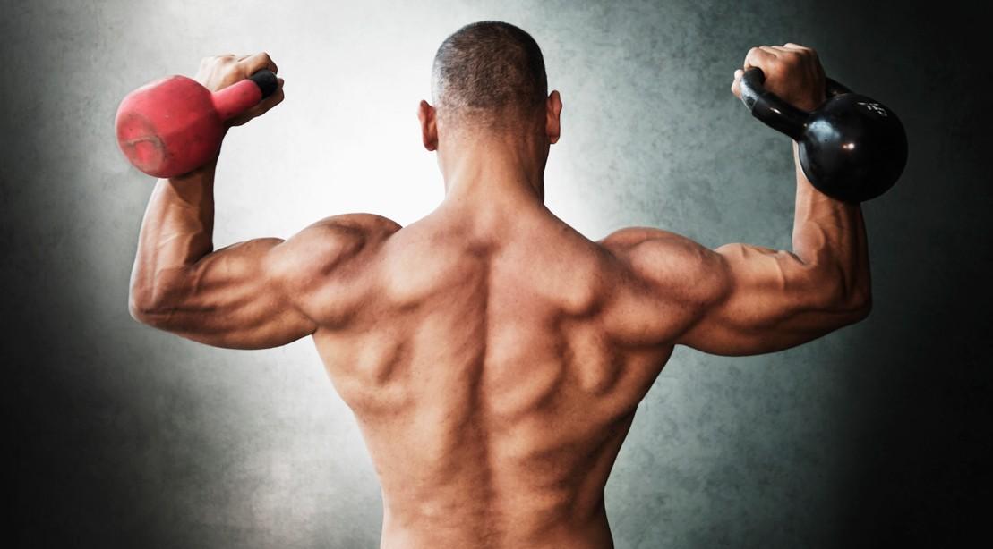 1109 muscular back kettlebells