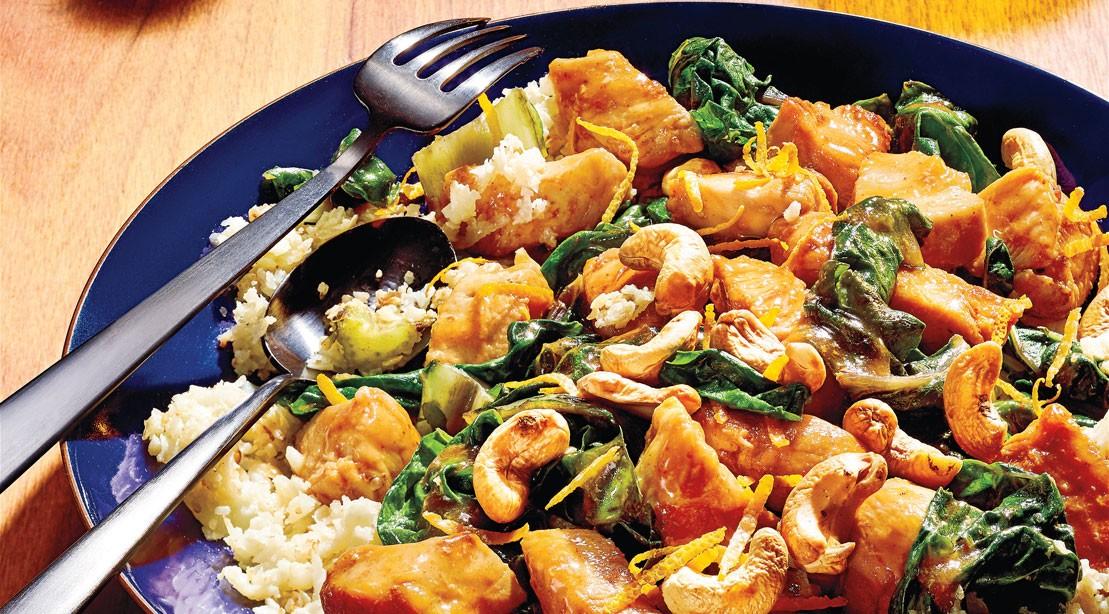 Orange Chicken Cauliflower Rice Stir-Fry