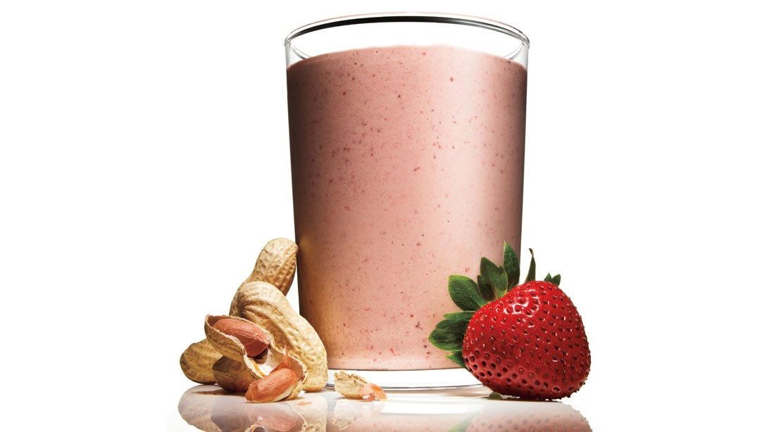 Recipe: How To Make Peanut Butter and Jelly Protein Shake