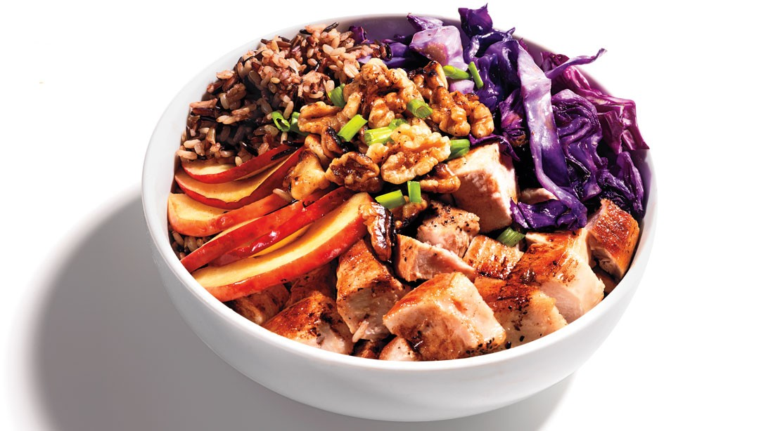 Pork, Apple, and Wild Rice Bowl