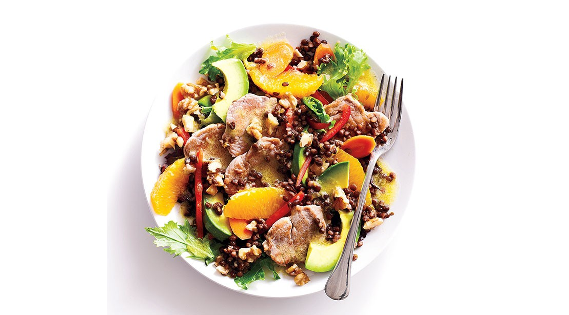 Pork Lentil Salad