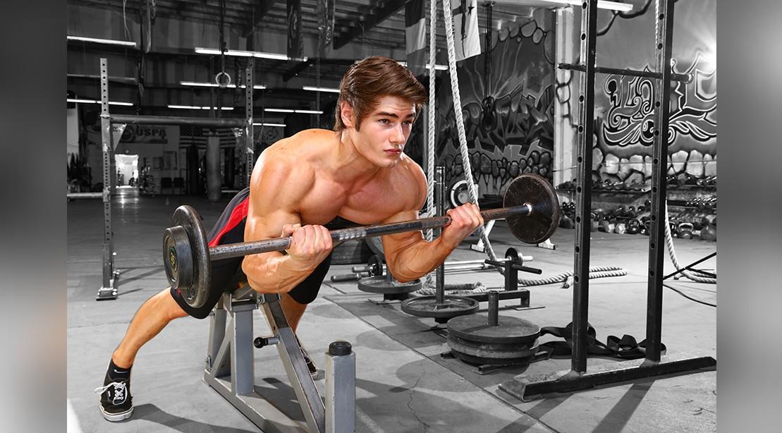 Prone Incline Biceps Curl