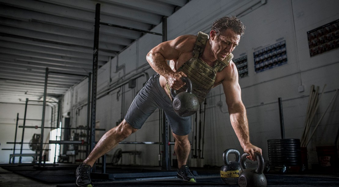 Pushup to Kettlebell Row