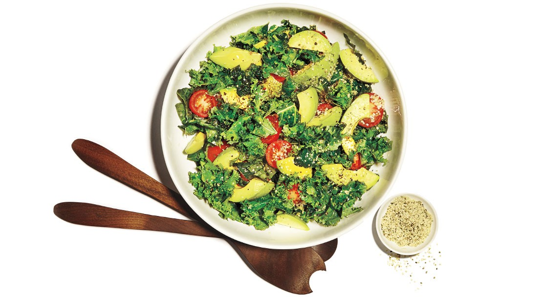 How To Make Raw Kale and Help Seed Salad