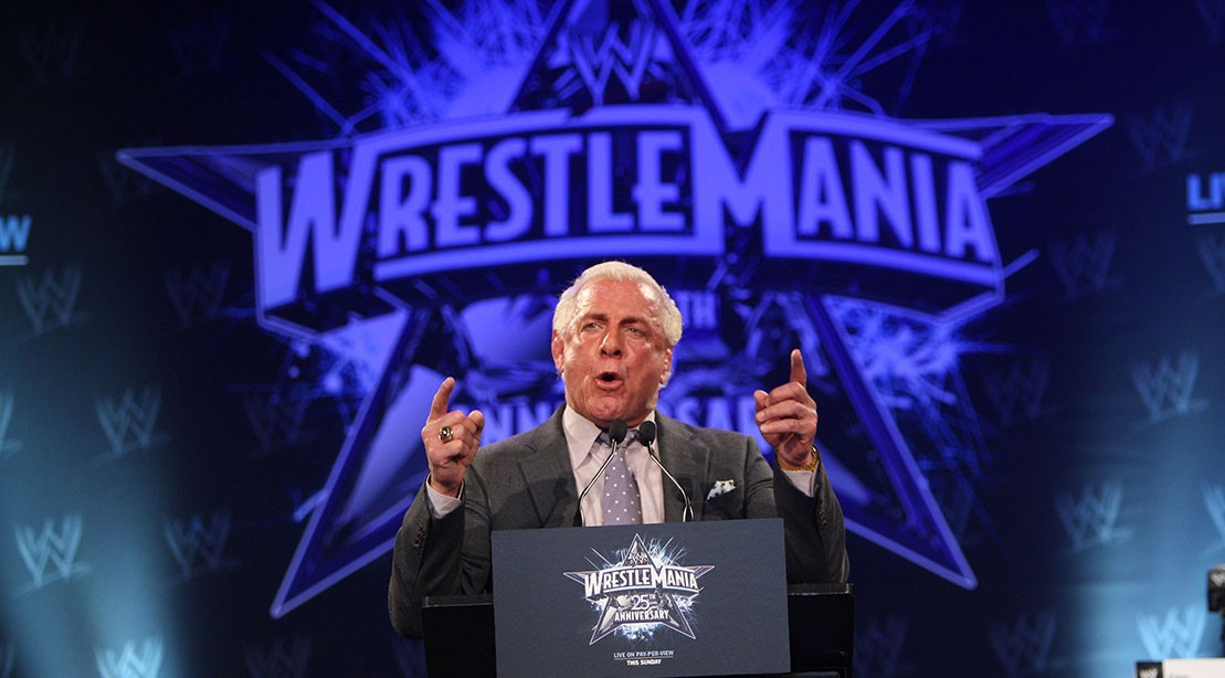 Ric Flair Injures Hand Fighting Warriors Fan