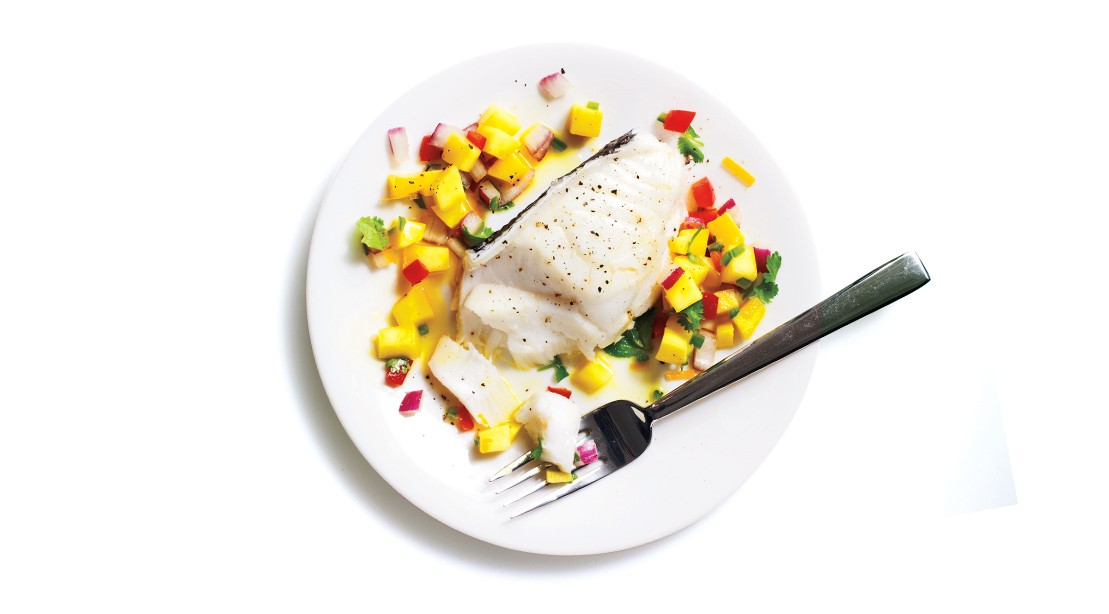 Protein of the Sea: Poached Sablefish with Mango Salsa