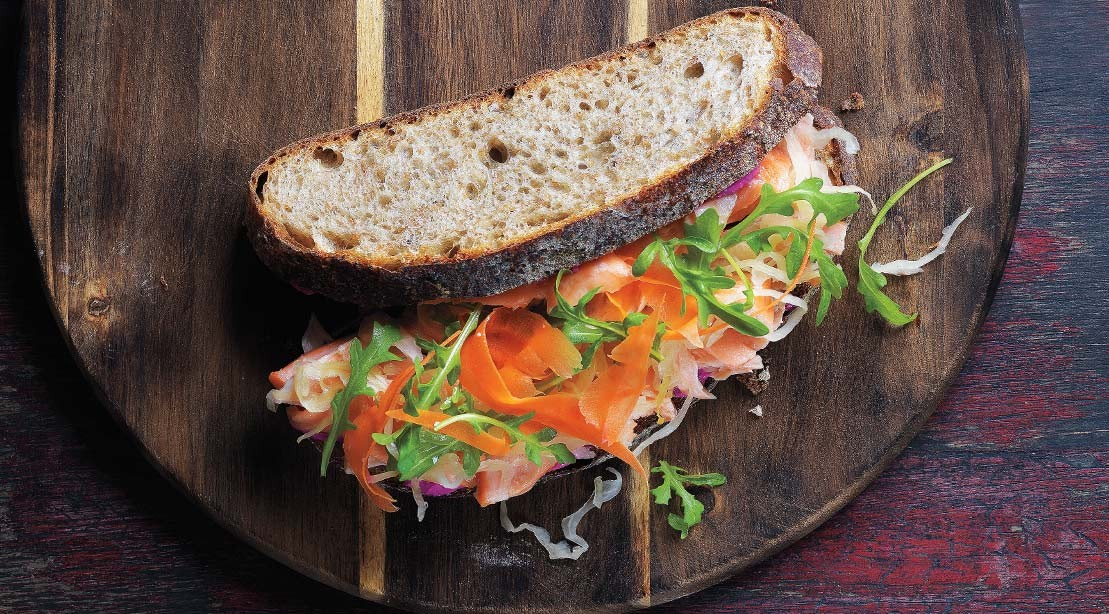 Salmon Beet Sandwich