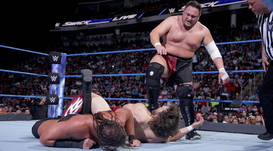 Samoa Joe vs. Big Cass vs. Daniel Bryan on WWE SmackDown 29 May 2018