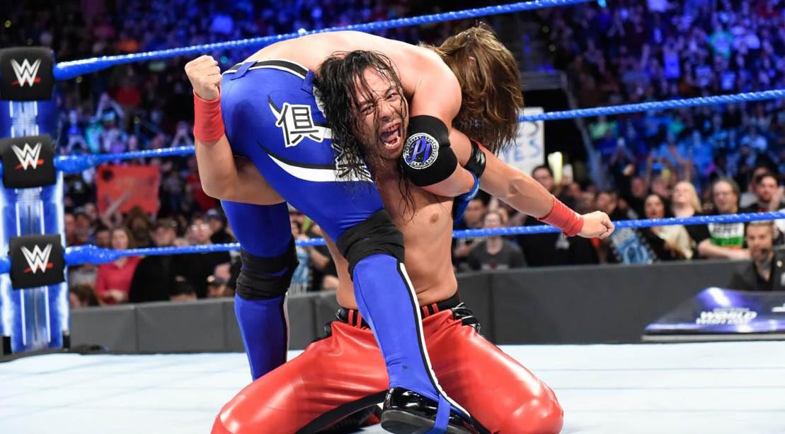Shinsuke Nakamura and AJ Styles on 'Smackdown Live' on April 24, 2018