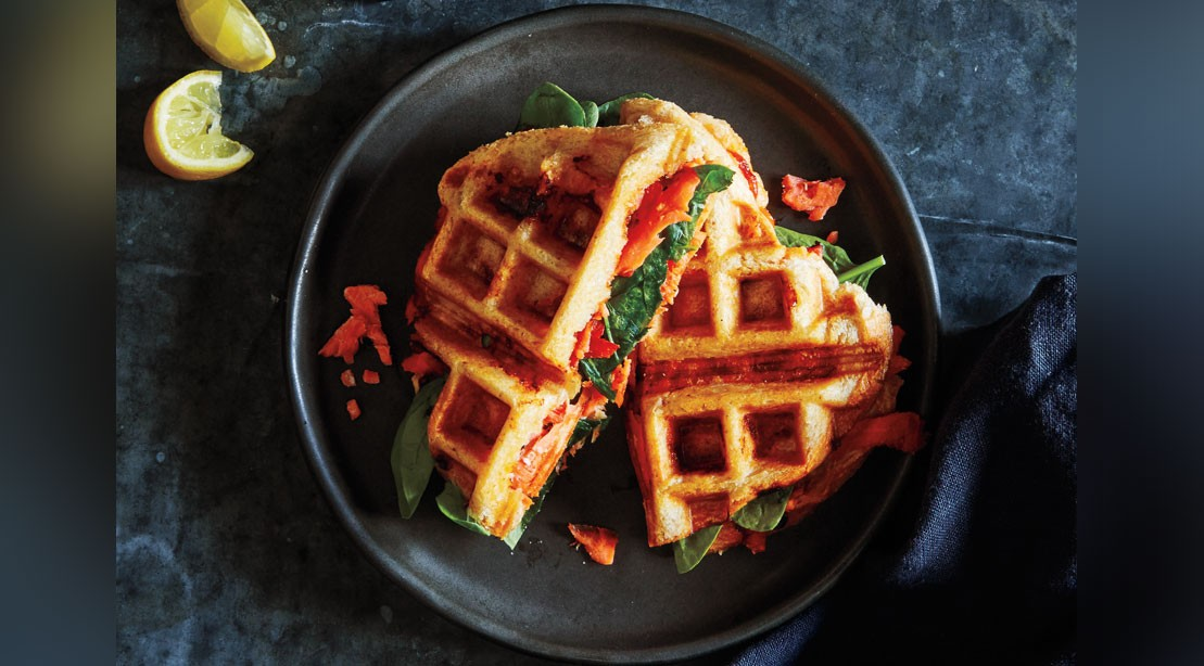 Smoked Fish Waffled Panini