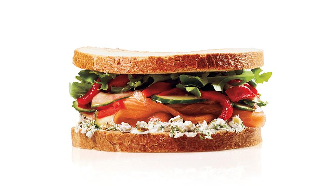 Smoked Salmon Sandwich