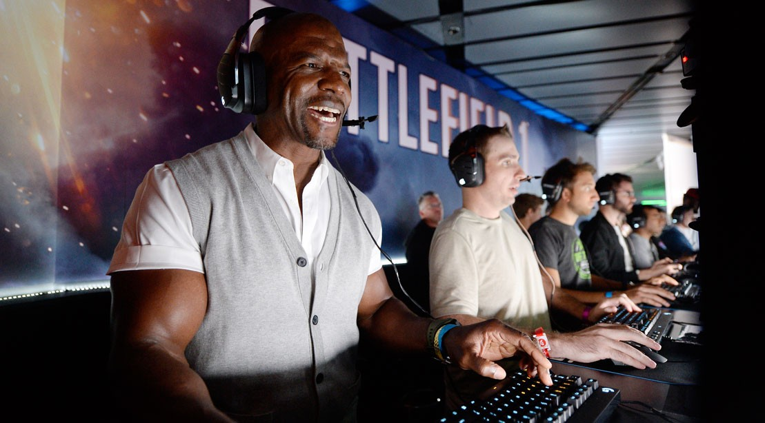 Terry Crews at the EA Annual Press Conference In Los Angeles