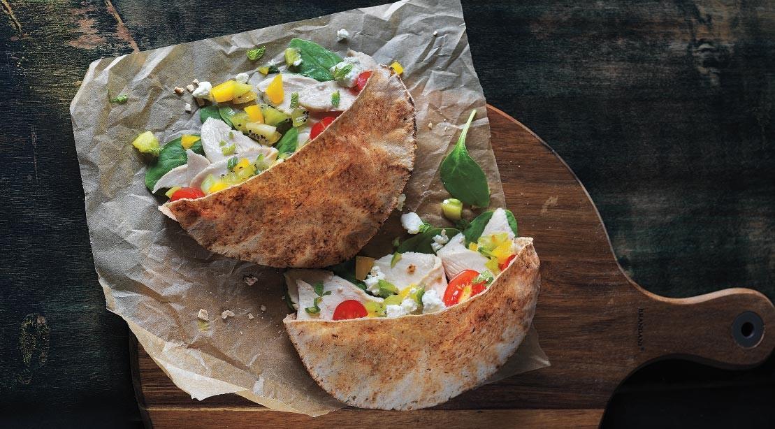 Recipe: How To Make Turkey Kiwi Salsa Pitas