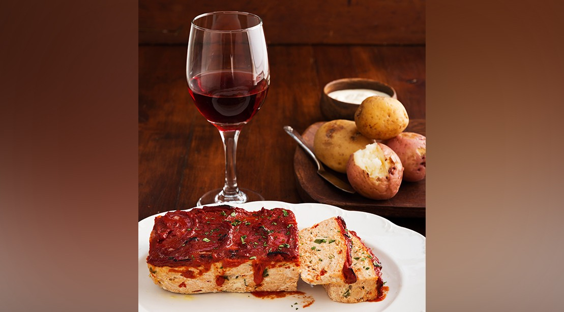 Turkey Meatloaf and Baked Potatoes