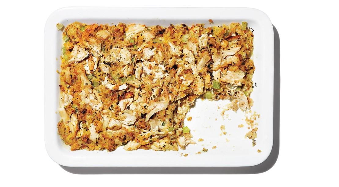 Stuffing And Turkey Casserole