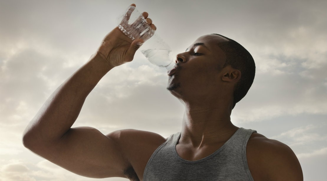 Man Drinking Bottled Water
