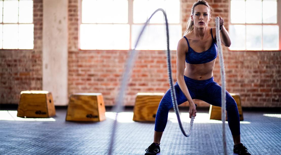 Woman Using Ropes