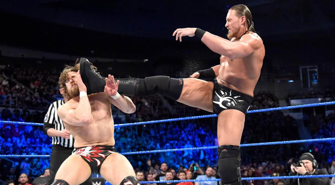 Daniel Bryan vs. Big Cass on WWE Smackdown Live on April 17, 2018.
