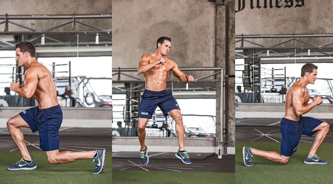 180-Degree Jumping Lunge
