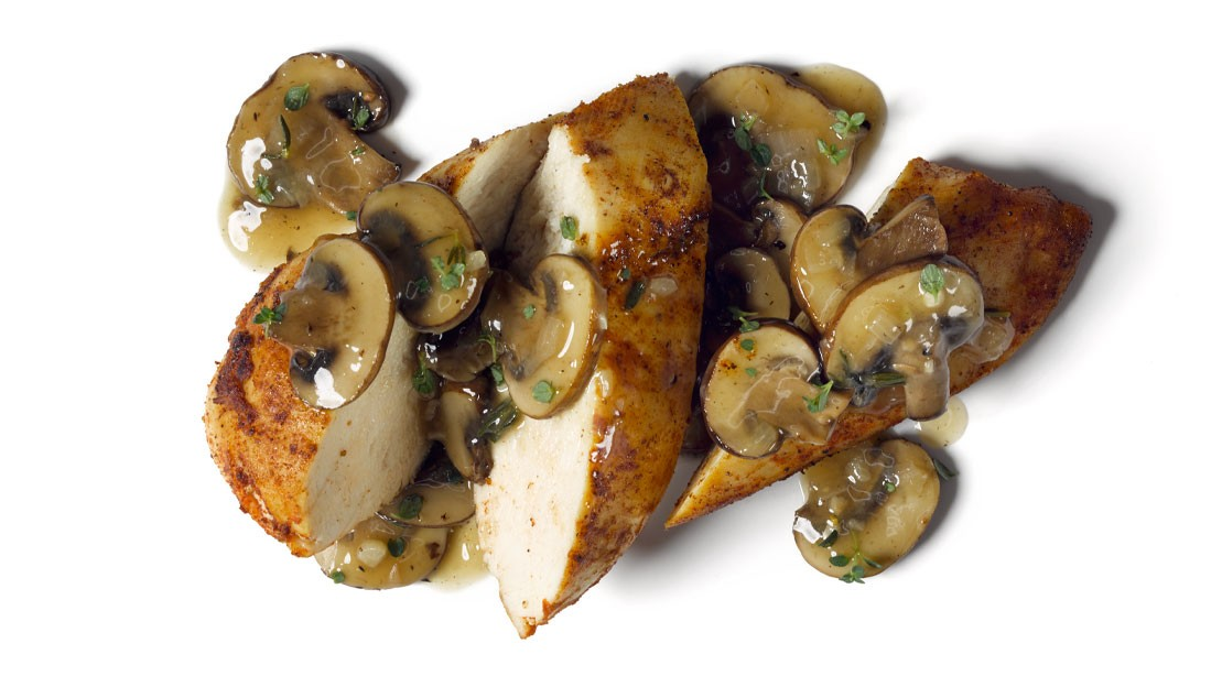 Green Tea Chicken with Shiitake Mushrooms