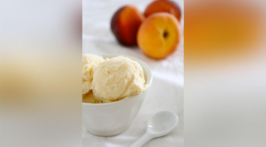 Peach Pie Nice Cream