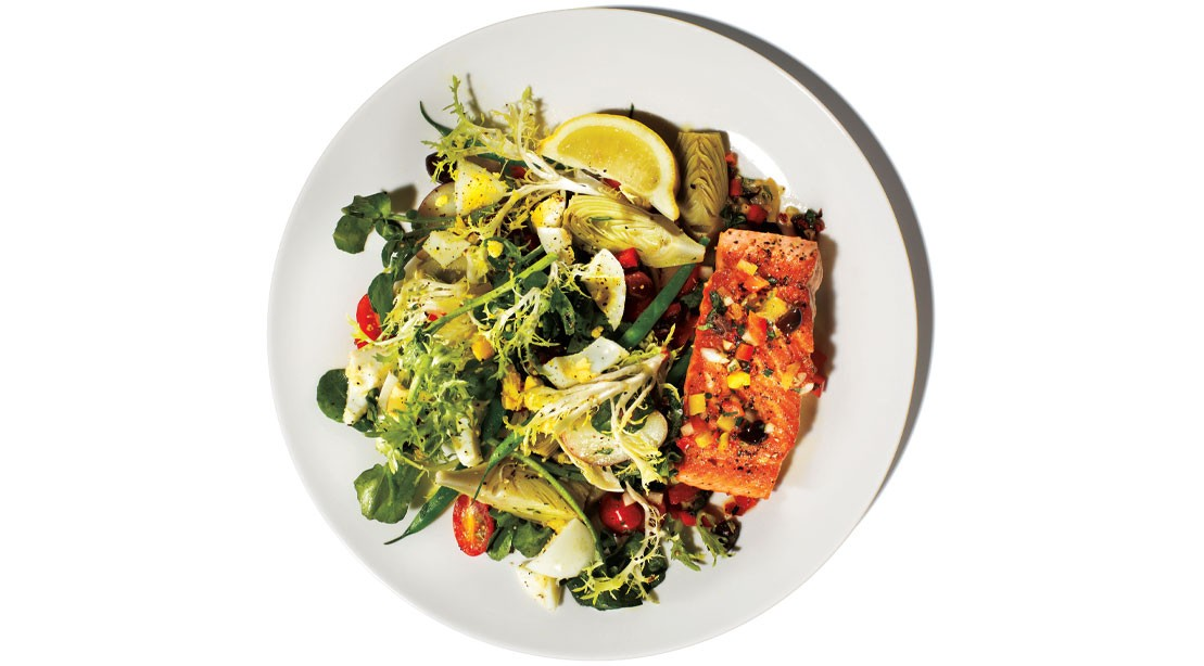 Healthy Recipe How To Make A Salmon With Nicoise Salad Muscle