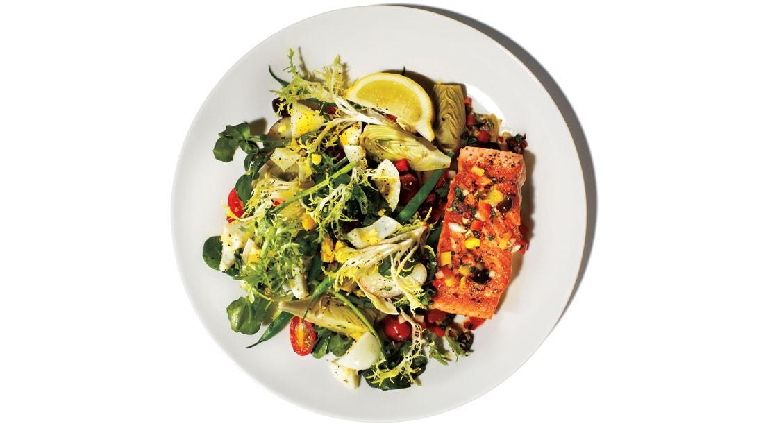Salmon With Nicoise Salad