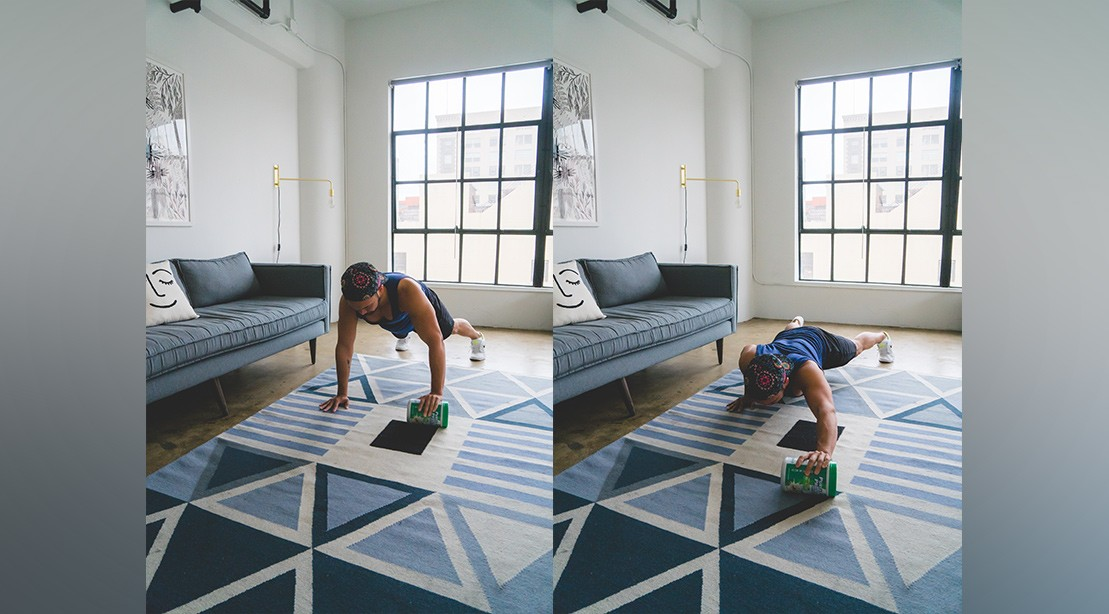 Roll-out pushup