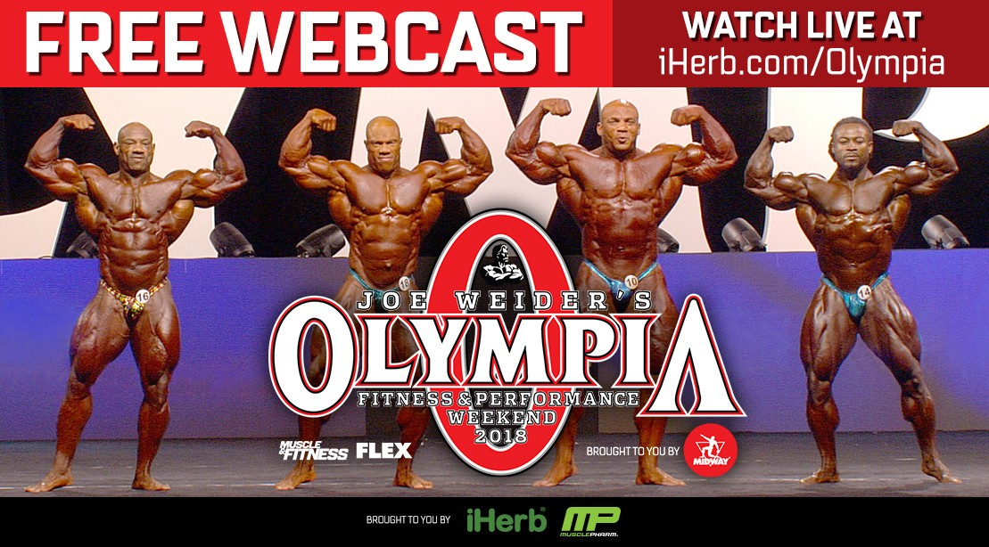 Watch the LIVE Mr. Olympia Webcast